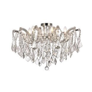 Regina 6-Light Semi Flush Mount by House of Hampton