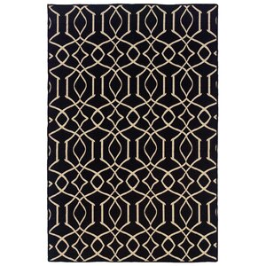 Bloomville Hand-Tufted Black/Natural Area Rug