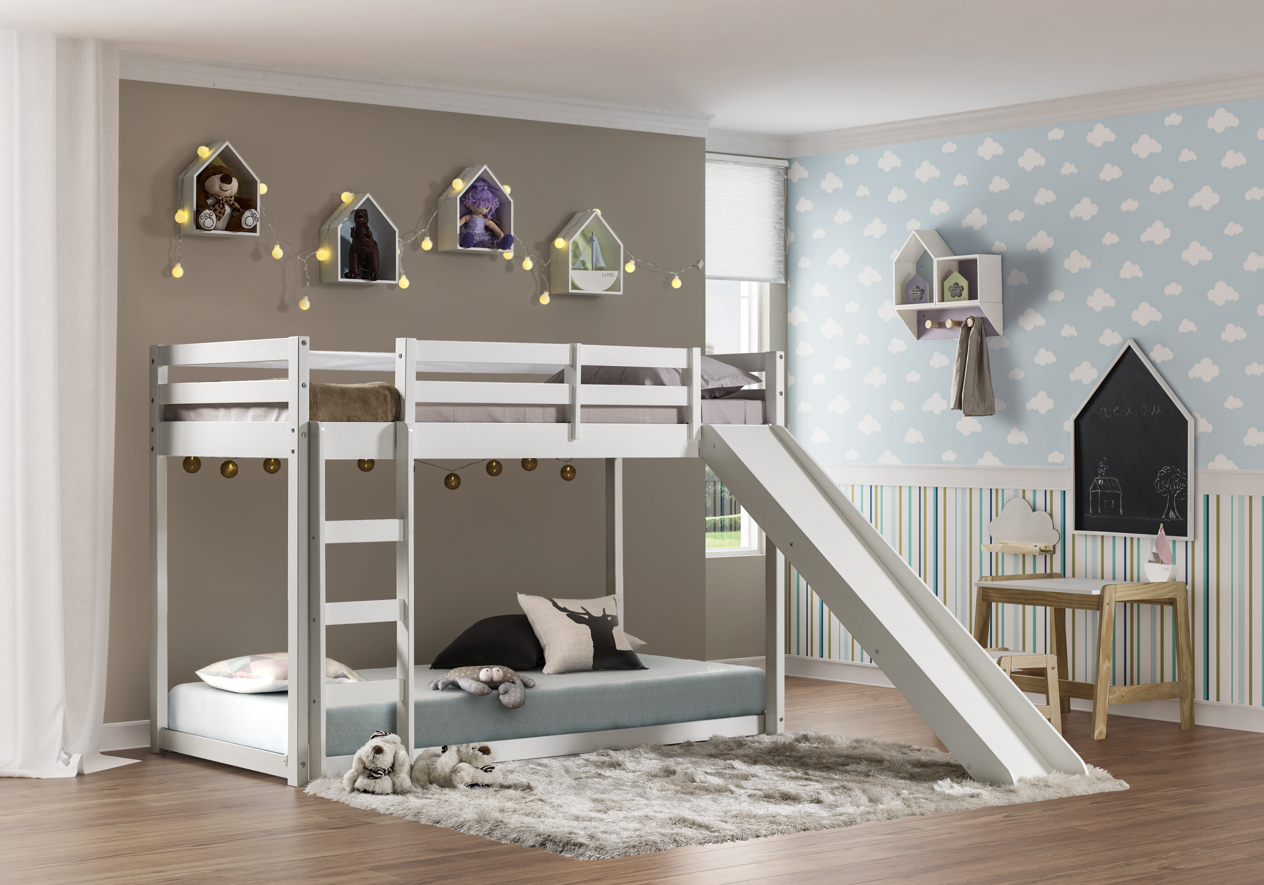 Isabelle Max Aledo Twin Over Twin Low Loft Bed Reviews Wayfair