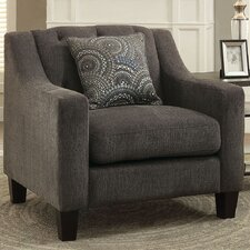 Manson Tufted Fabric Armchair by A&J Homes Studio