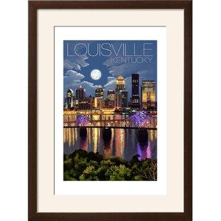 Louisville wayfair louisville kentucky skyline at night framed vintage advertisement solutioingenieria Gallery