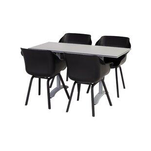 Check Price Sophie Folding Aluminium Dining Table