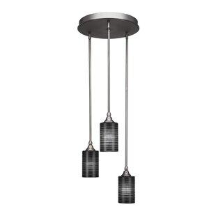 Shamar 3-Light Cluster Pendant by Ebern Designs