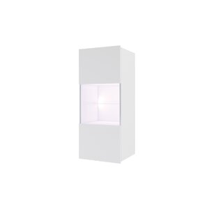 Gumbs Wall Mounted Display Cabinet With Lighting By Wade Logan