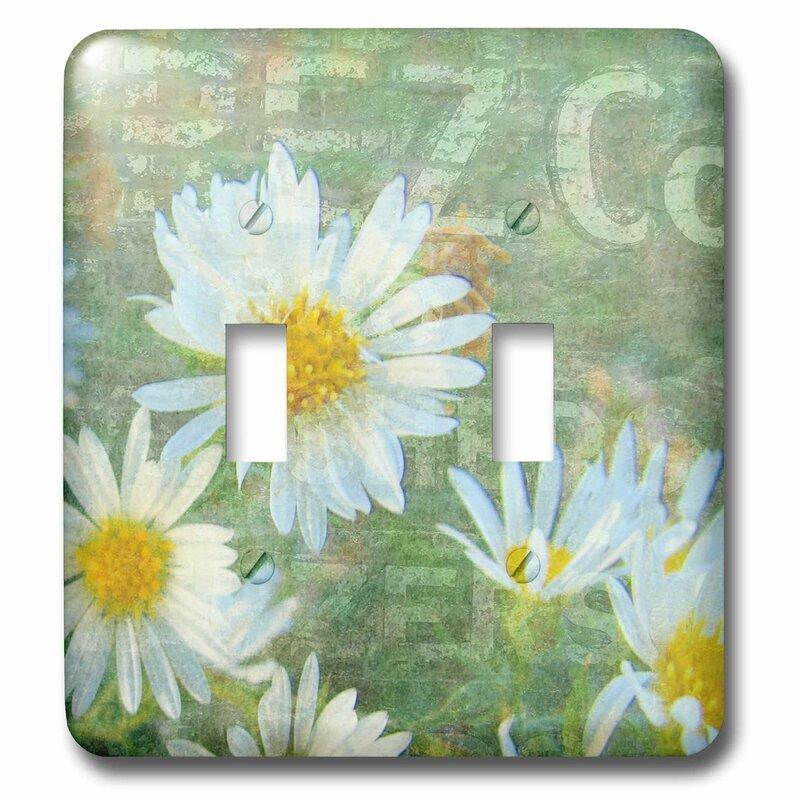 3drose Daisy Co Digital Art By Angelandspot 2 Gang Toggle Light Switch Wall Plate Wayfair