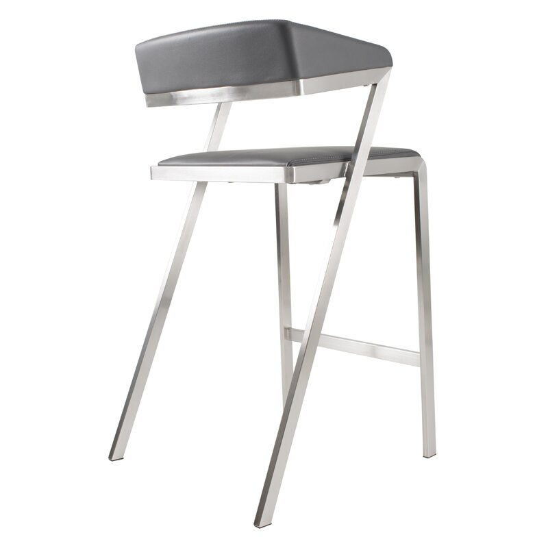 Incredible Deschamps Low Back 27 Bar Stool Evergreenethics Interior Chair Design Evergreenethicsorg