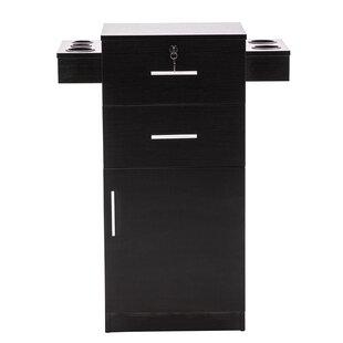 Shumpert Locking Beauty Salon Storage Station Cabinet Stylist Equipment Drawer Hair Dryer Holder