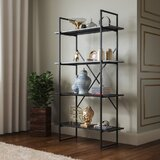 Grose 65 H x 35 W Metal Etagere Bookcase by 17 Stories