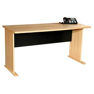 Modular Real Oak Wood Veneer Furniture Panel Desk Shell by Rush Furniture