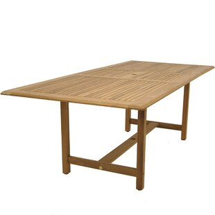 Brighton Contemporary Rectangle Teak Dining Table