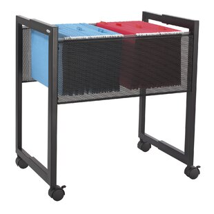 Adjustable Mesh File Cart By Symple Stuff