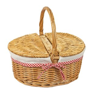 Oval Willow Wicker Picnic Basket By Brambly Cottage