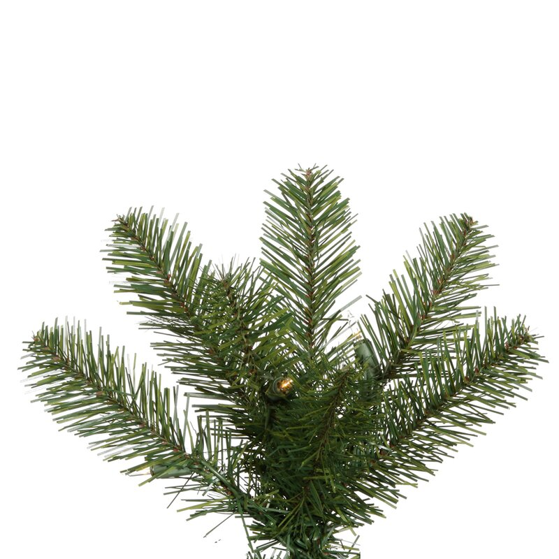 4cc436ee9579 Salem Pencil Pine 7.5' Green Artificial Christmas Tree with 350 Clear Lights  with Stand