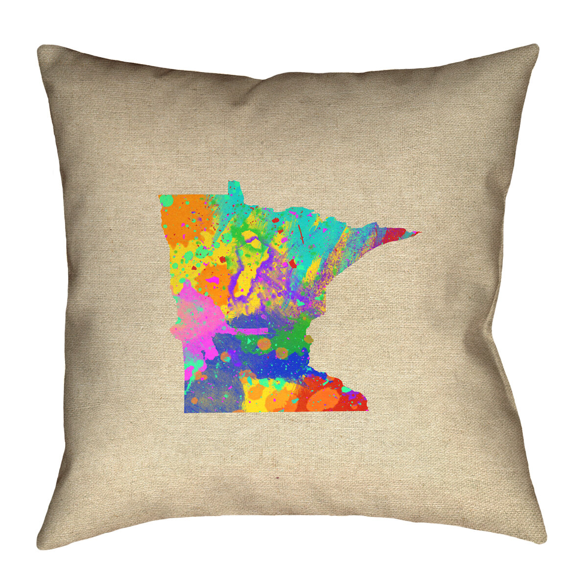 Ivy Bronx Austrinus Minnesota Watercolor Double Sided Print Floor Pillow Wayfair