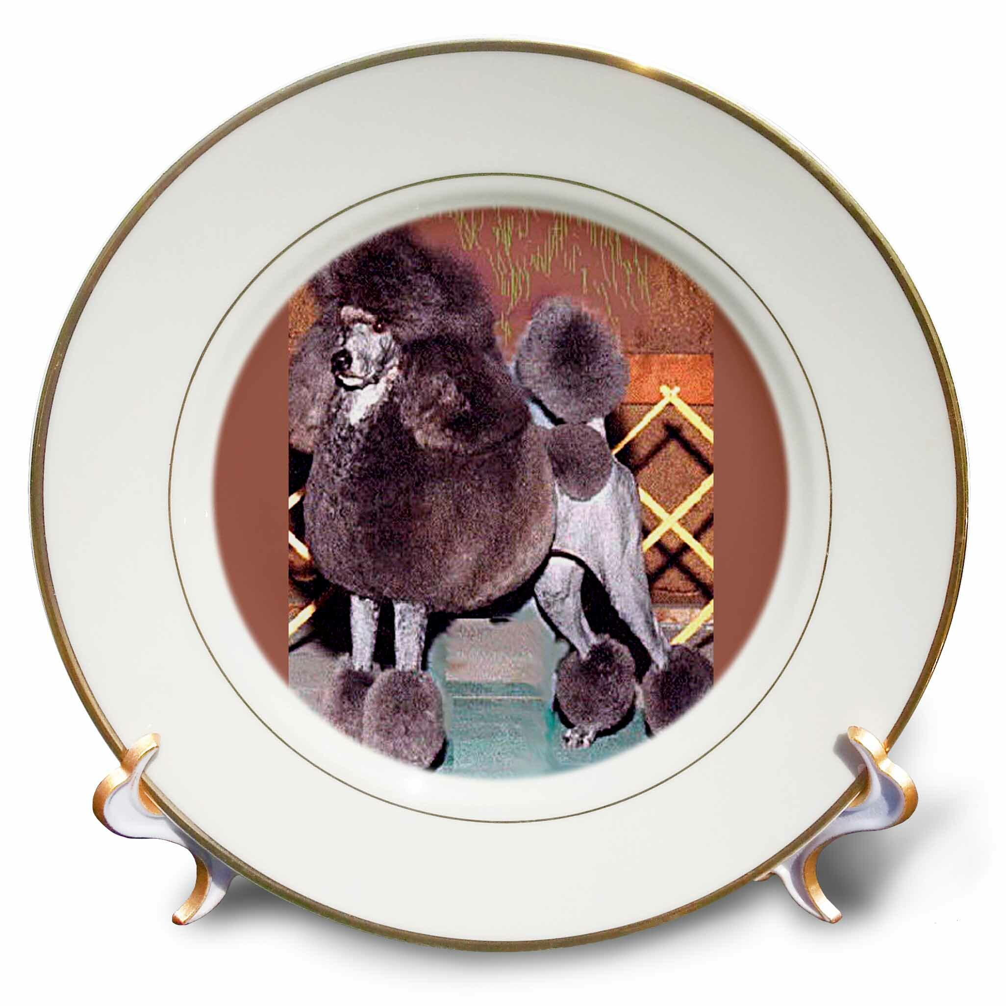 East Urban Home Porcelain Standard Poodle Decorative Plate Wayfair