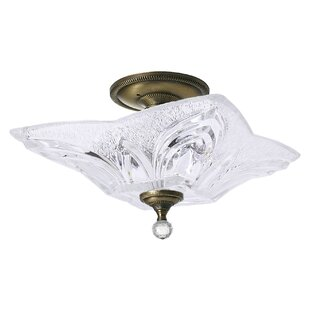 Lattin 2-Light Semi Flush Moun..