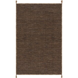 Order Naveen Handwoven Cotton Brown/Black Area Rug ByBungalow Rose