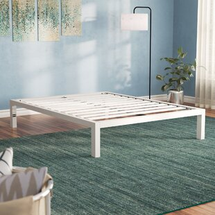 Hulme White Metal Platform Bed Frame