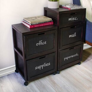 Rebrilliant Burgoyne Crated 2 Drawer Mobi..