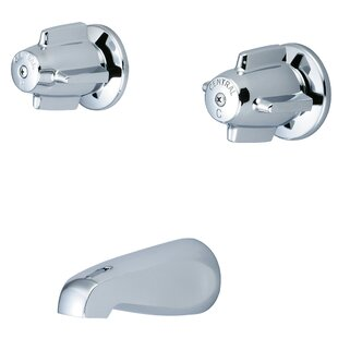 Central Brass Double Handle Wall Mount Tub Set