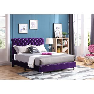 Everly Quinn Loc Tufted Upholstered Panel Bed