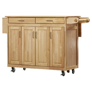 Epping Kitchen Cart with Wood Top