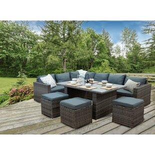 Kiaan 9 Seater Rattan Corner Sofa Set By Sol 72 Outdoor