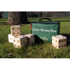 Jumbo Wooden Dice Giant Board Game