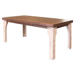 August Grove Goldfield Solid Wood Dining ..