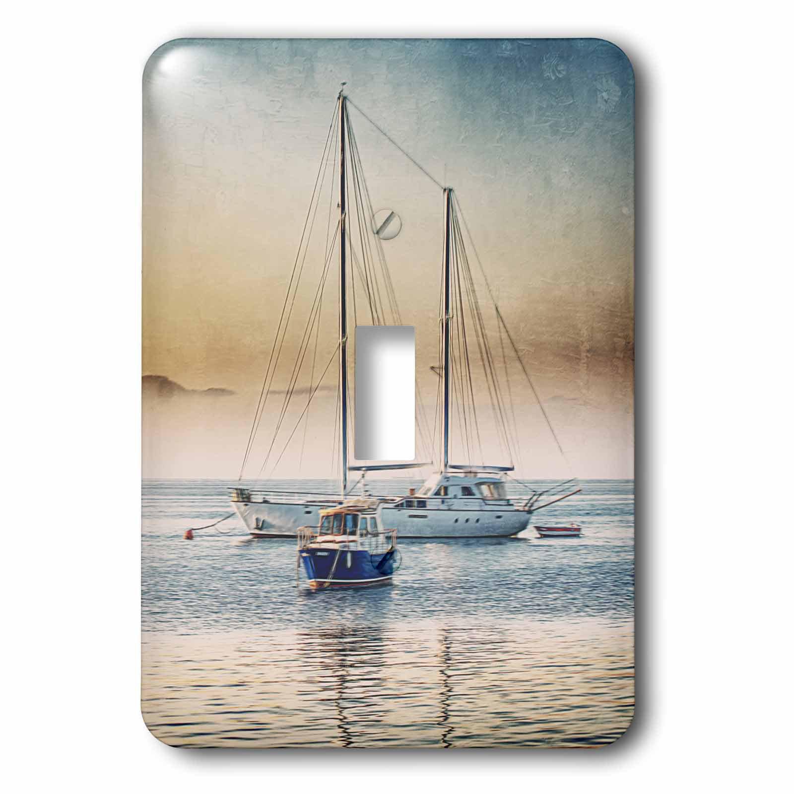 Sail Away Navy Blue 1 Gang Rocker Switch Plate 114r