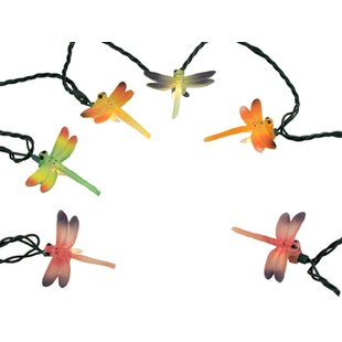 The Holiday Aisle Dragonfly Summer Patio Novelty String Light