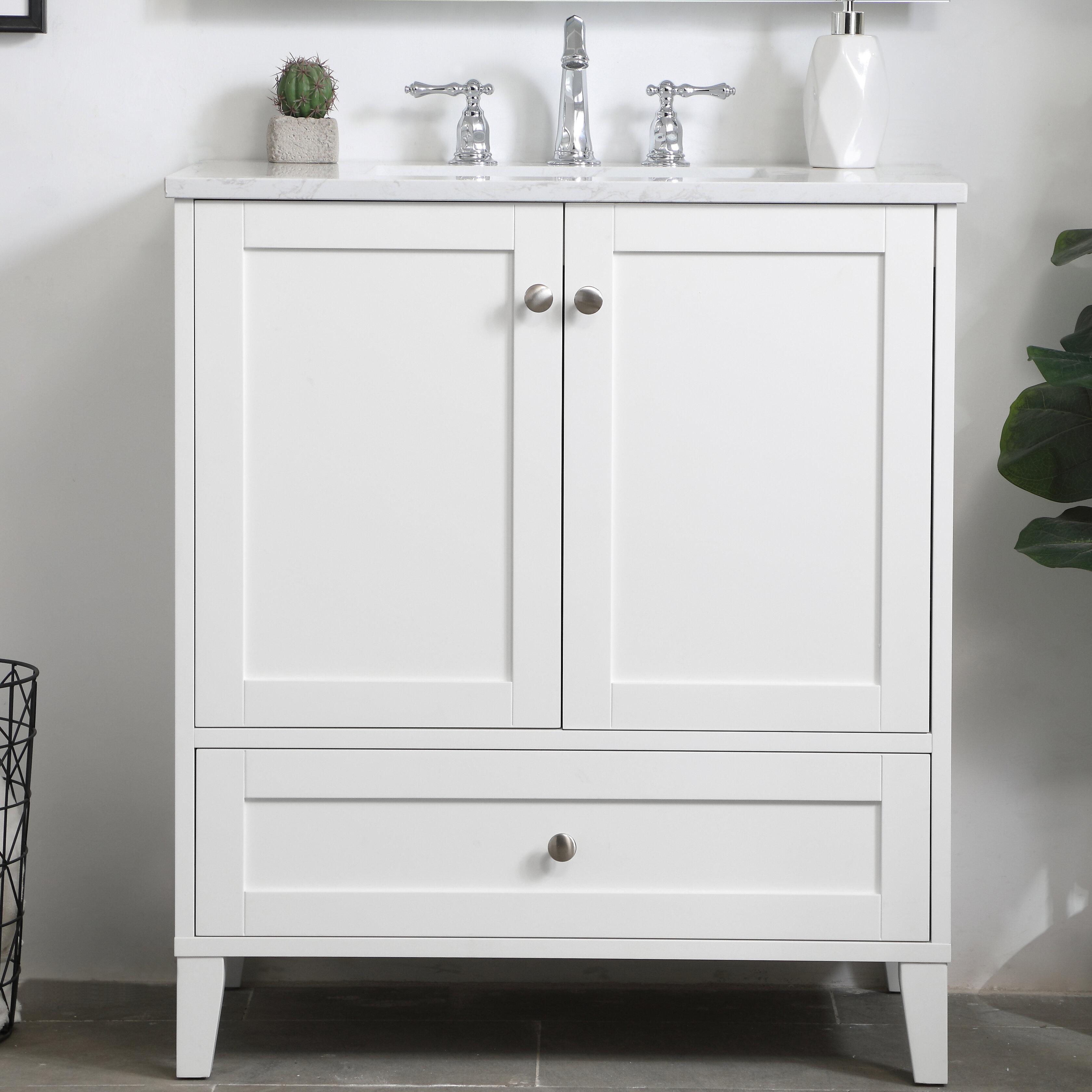 Beachcrest Home Araminta 30 Single Bathroom Vanity Set Reviews