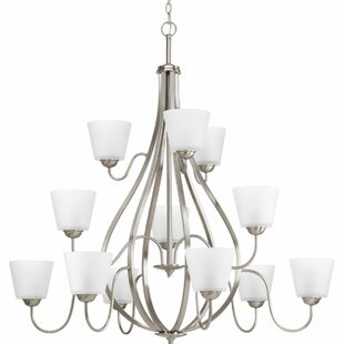 Andover Mills Gallo 12-Light Shaded Chandelier