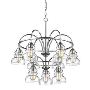 Wrought Studio Sherlock 9-Light Shaded Chandelier