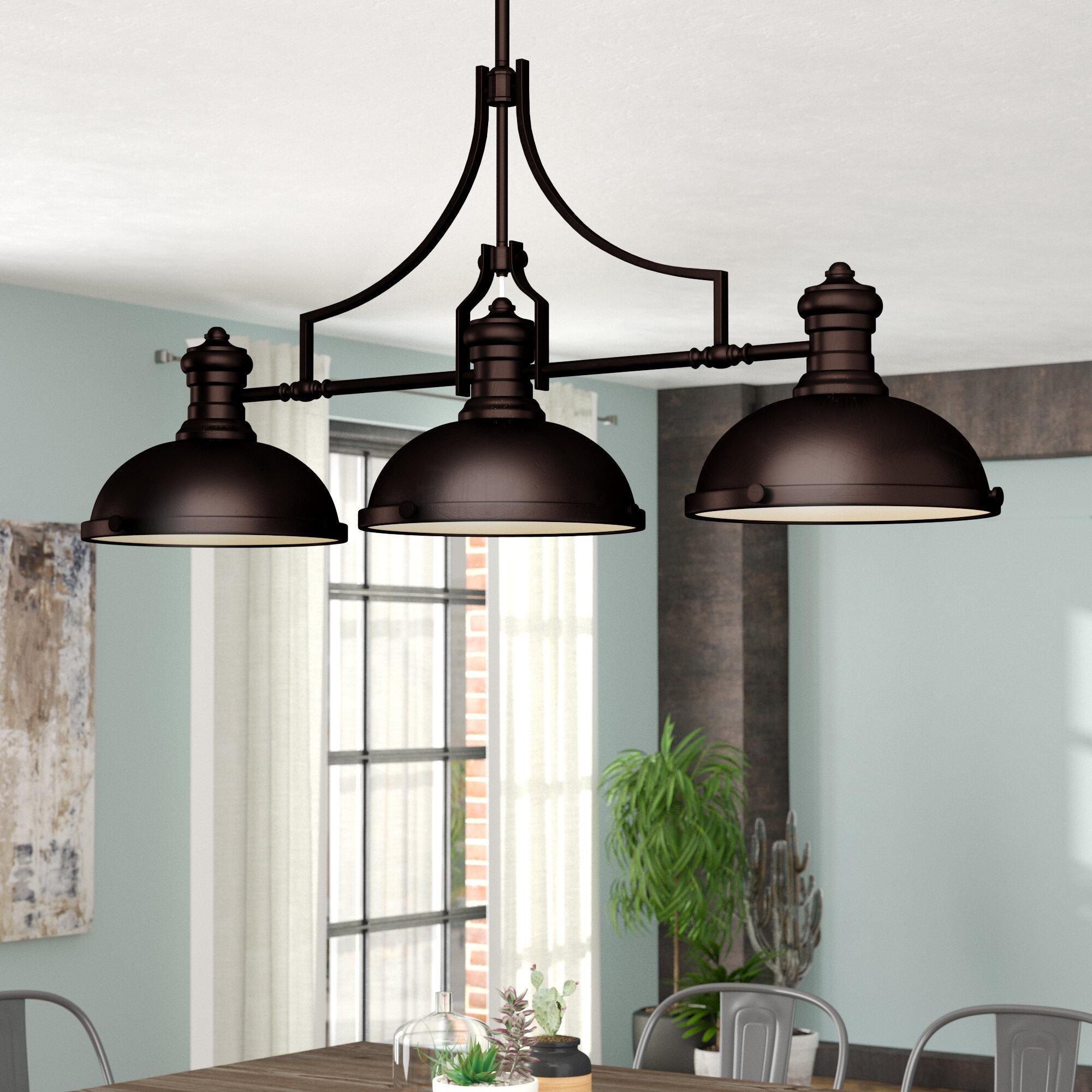 Trent Austin Design Fredela 3 Light Kitchen Island Linear Pendant Reviews Wayfair
