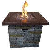 Davey Stone Propane Gas Fire Pit Table