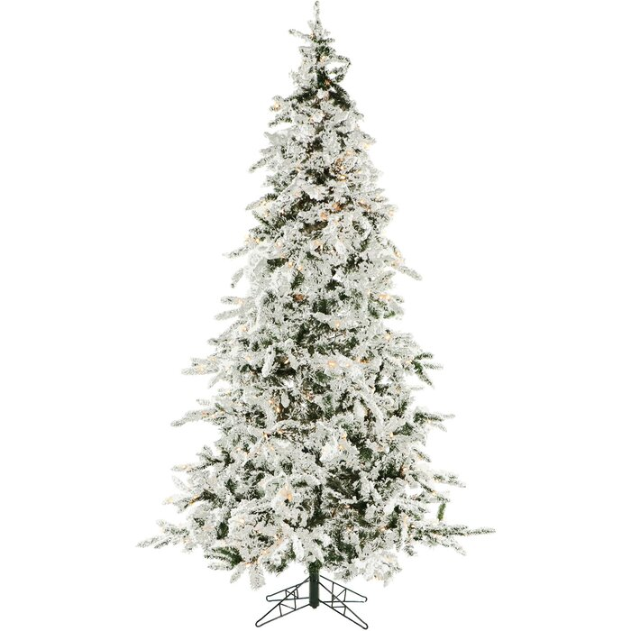 Most Realistic Artificial Christmas Tree.7 5 Snow Pine Artificial Christmas Tree With 550 Clear Lights