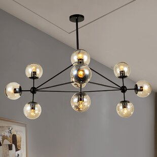 Wrought Studio Dortch 10-Light Sputnik Chandelier