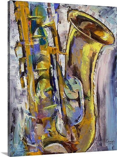 a8e44de5abbf Jazz Sax by Michael Creese Painting Print on Canvas