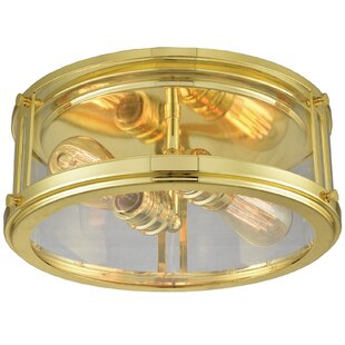gold flush mount light surface mount quickview gold flush mounts semi youll love wayfair