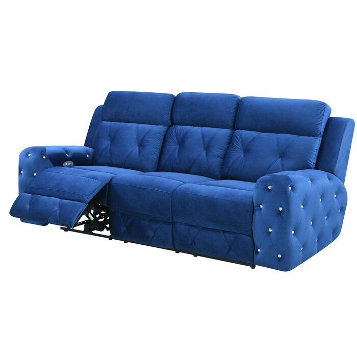 Wondrous Lefever Jewel Embellished Power Reclining Sofa Alphanode Cool Chair Designs And Ideas Alphanodeonline