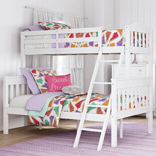 Wood Twin Over Futon Bunk Bed Wayfair