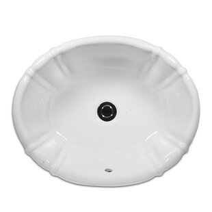 Antigua Vitreous China Oval Drop-In Bathroom Sink with Overflow By St Thomas Creations by Icera