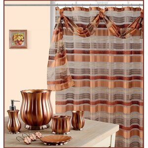 Elisa Decorative Shower Curtain with Scraft
