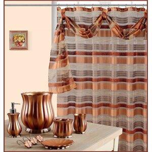 Elisa Decorative Shower Curtain with Scraft
