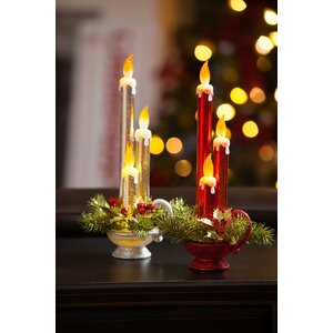 2 Piece Unscented Taper Candle Set (Set of 2)