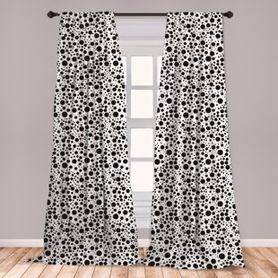 Black And White Dot Curtains Wayfair