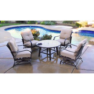 St Annes Conversation 5 Piece Multiple Chairs Seating Group with Cushions