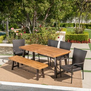 Brayden Studio Appleton Outdoor 6 Piece Dining Set