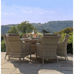 Ridgemoor 6 Seater Dining Set With Cushions By Sol 72 Outdoor